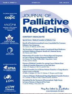 Journal of Palliative Medicine (Vol. 22, Issue 10 / Oct. 2019)